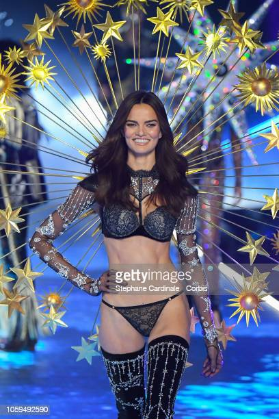 Barbara Fialho walks the runway at the 2018 Victoria's Secret Fashion Show at Pier 94 on November 8 2018 in New York City