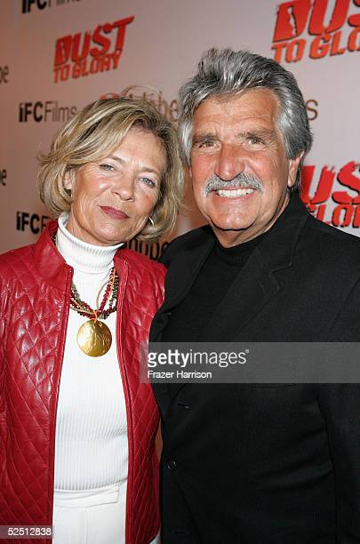 Barbara Fish and Sal Fish Baja 1000 race organiser arrive for the premiere of IFC Films Dust to Glory held at the Archlight Cinemas on March 30 2005...