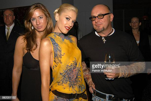 Barbara Fourneau Gwen Stefani and Harry Buterbaugh attend Gwen Stefani Dinner for LAMB at Perry Street on September 13 2005 in New York City