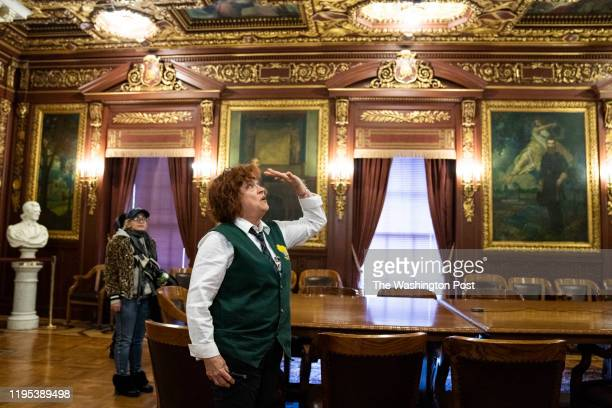 Barbara Frye gives a tour of the Wisconsin State Capitol in Madison Wis Jan 10 2020