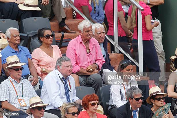 Barbara Gandolfi and Jean Paul Belmondo attend the French Open at Roland Garros on June 5 2011 in Paris France