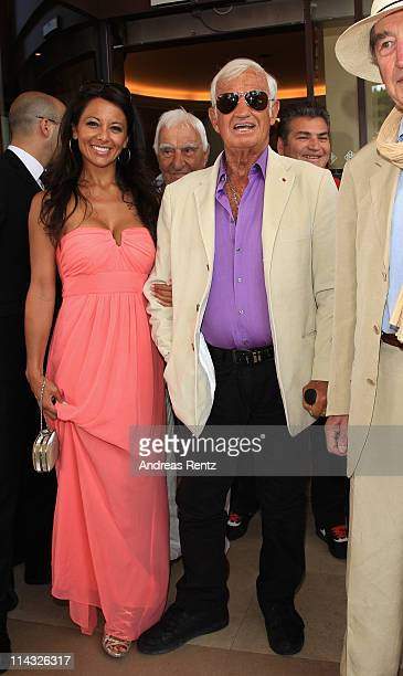 Barbara Gandolfi and Jean Paul Belmondo sighted at the Martinez Hotel during the 64th Annual Cannes Film Festival at the Martinez Hotel on May 18...