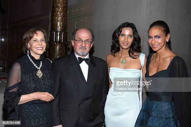 Barbara Goldsmith Salman Rushdie Padma Lakshmi and Jhumpa Lahiri attend The PEN American Center's 2007 Literary Gala at American Museum of Natural...
