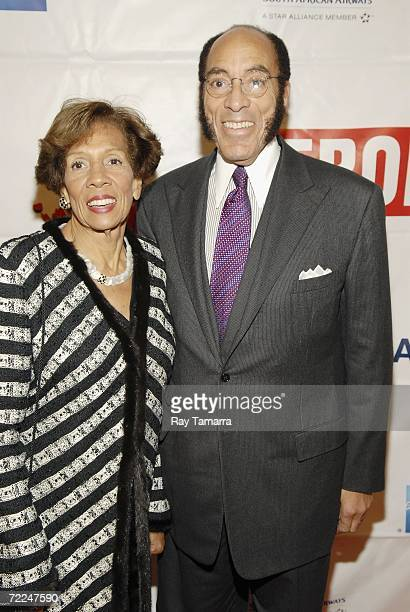 Barbara Graves and her husband Earl G Graves Ltd Chairman and CEO Earl G Graves attend the Taste Of Ebony at the Metropolitan Pavilion October 23...