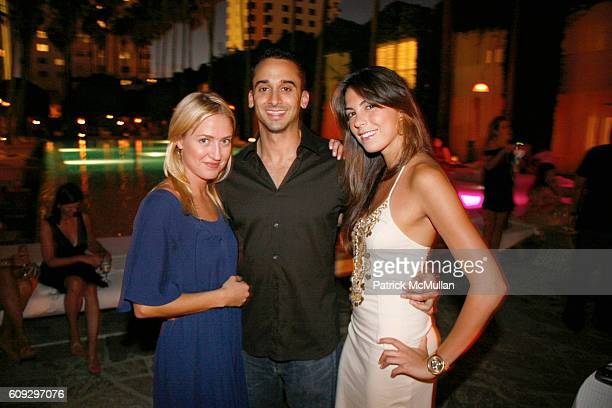 Barbara Gretsch Michael Sheldon and Gabby Smith attend Launch of Diane von Furstenberg Soleil Swim and Beach Collection at The Delano on July 13 2007
