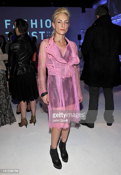 Barbara Grispini attends the British Fashion Council's LONDON Show ROOMS LA opening cocktail party at Smashbox Studios on March 12 2012 in West...