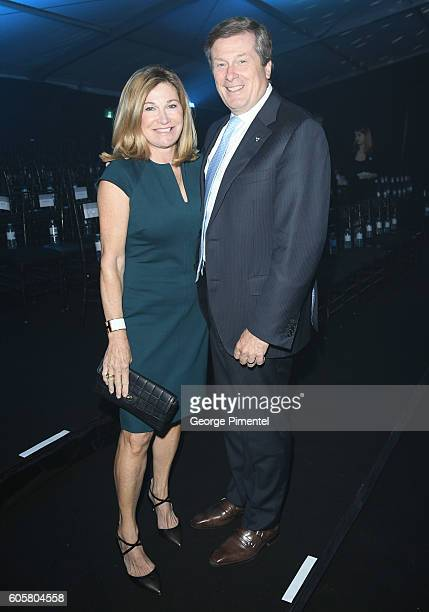 Barbara Hackett and John Tory attend Nordstrom Gala at Toronto Eaton Centre on September 14 2016 in Toronto Canada