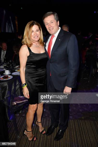 Barbara Hackett and Mayor John Tory attend Laughter Is The Best Medicine III Gala at Beanfield Centre Exhibition Place on May 13 2017 in Toronto...