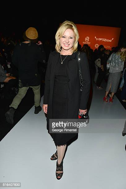 Barbara Hackett attends Day 3 of Toronto Fashion Week Fall 2016 at David Pecaut Square on March 16 2016 in Toronto Canada
