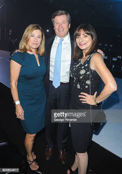 Barbara Hackett John Tory and Jeanne Beker attend Nordstrom Gala at Toronto Eaton Centre on September 14 2016 in Toronto Canada