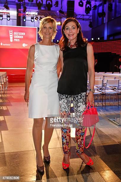 Barbara Hahlweg and Alexandra von Rehlingen attend the Deutscher Gruenderpreis 2015 on June 23, 2015 in Wetzlar, Germany.