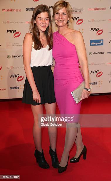 Barbara Hahlweg and her daughter Franka during the LEA Live Entertainment Award 2015 at Festhalle Frankfurt on April 14 2015 in Frankfurt am Main...