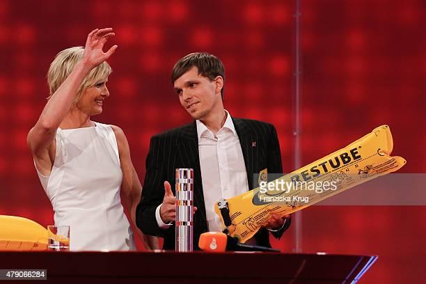 Barbara Hahlweg and Marius Kunkis attend the Deutscher Gruenderpreis 2015 on June 30, 2015 in Berlin, Germany.