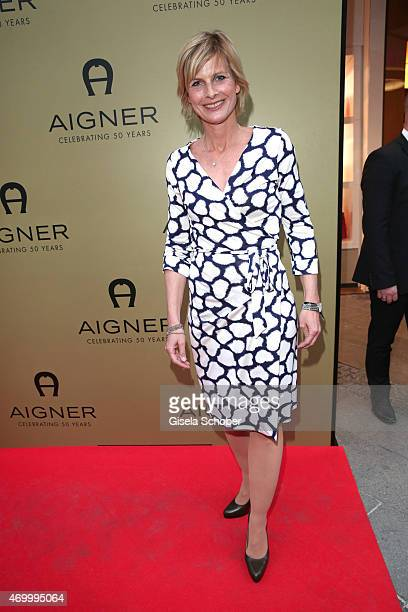 Barbara Hahlweg during the 50th Anniversary of AIGNER on April 16 2015 in Munich Germany