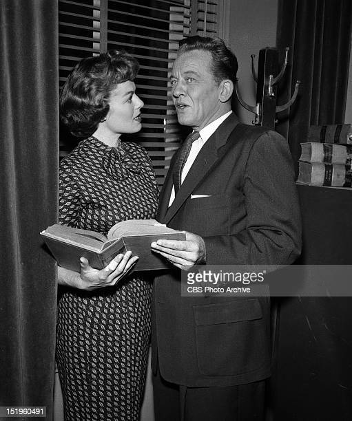 MASON Barbara Hale and William Talman as Dist Atty Hamilton Episode 'Case of the Lonely Heiress' Image dated October 28 1957