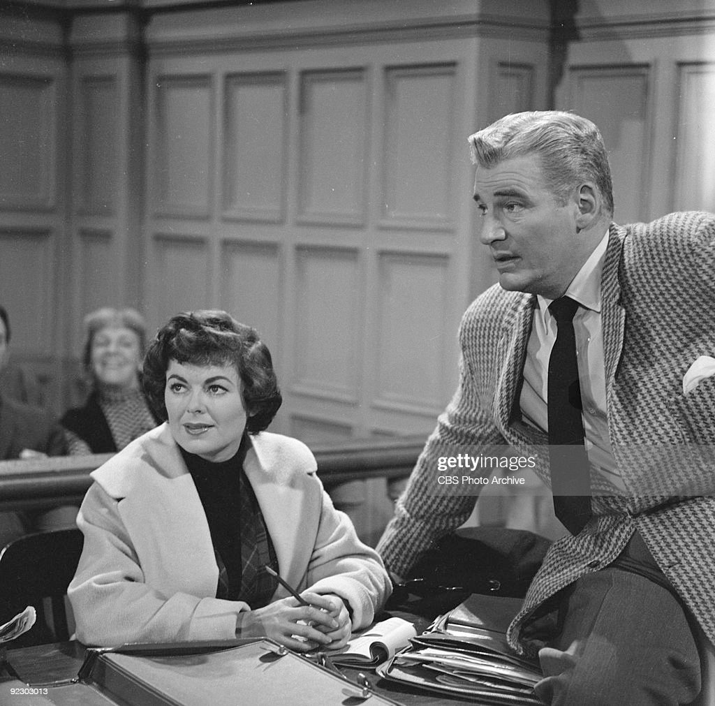 Courtroom Scene From Perry Mason : News Photo