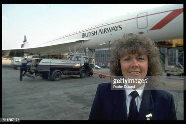 Barbara Harmer at Heathrow airport before boarding for her flight
