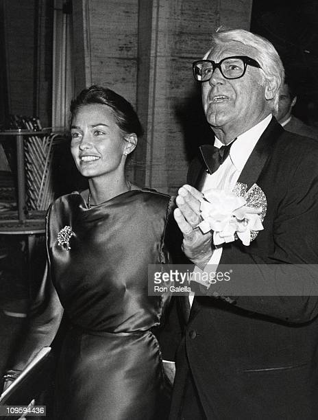 Barbara Harris and Cary Grant during Danny Kaye conducts the Philharmonic at Alice Tully Hall September 23 1981 at Lincoln Center in New York City...