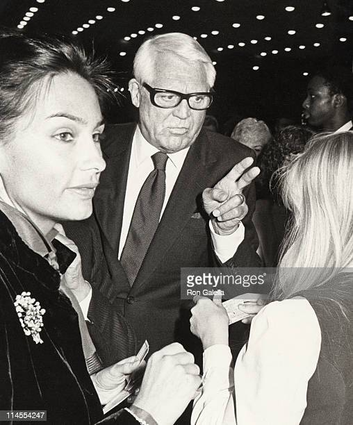 Barbara Harris and Cary Grant during Opening Night Party for Sugar Babies at Brown Derby Restaurant in Hollywood California United States