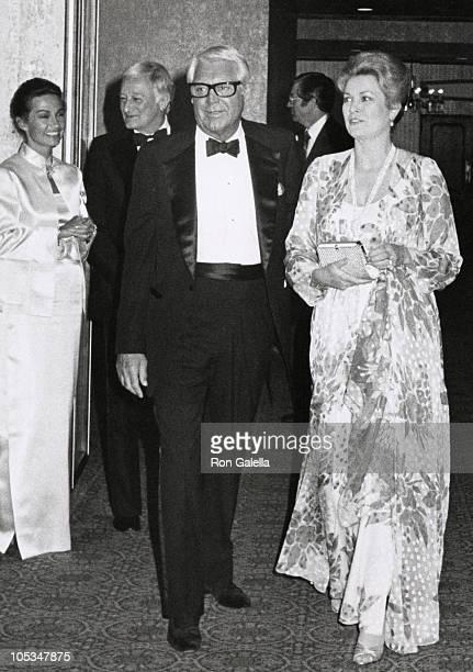Barbara Harris, Cary Grant, and Princess Grace during Variety International Humanitarian Award Honoring Frank Sinatra at Century Plaza Hotel in Los...