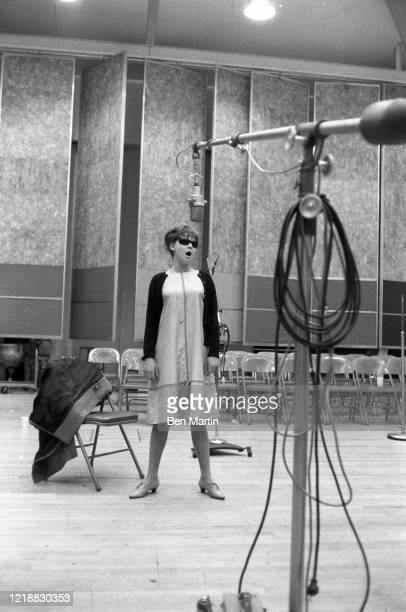 Barbara Harris rehearse a tribute concert for slain Cradle Will Rock composer Marc Blitzstein at Philharmonic Hall conducted by Leonard Bernstein...