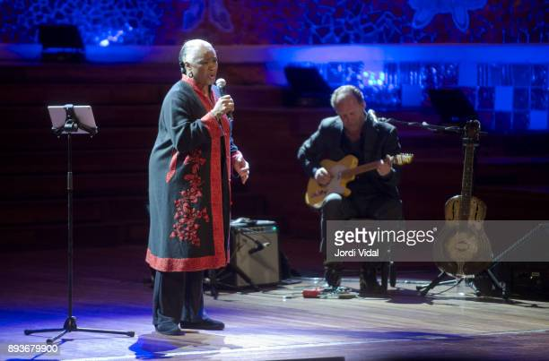 Barbara Hendricks and Ulf Englund perform on stage during Festival Internacional de Jazz de Barcelona on December 15 2017 in Barcelona Spain