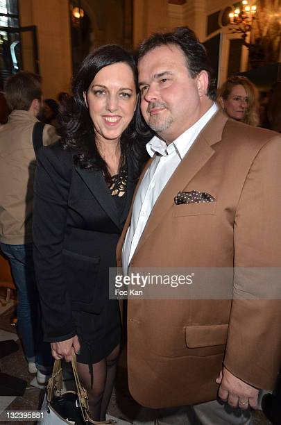 Barbara Herme and her husband Chef Pierre Herme attend the 50 th Anniversary of 'Sophie La Girafe' at Salon France Ameriques on May 24 2011 in Paris...