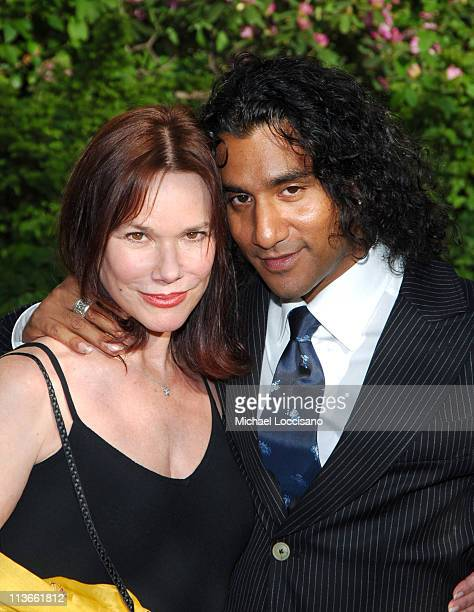 Barbara Hershey and Naveen Andrews during 2005/2006 ABC UpFront Arrivals at Lincoln Center in New York City New York United States