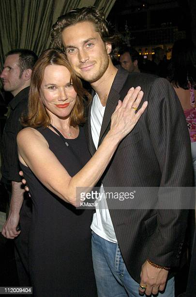 Barbara Hershey and Oliver Hudson during The 20042005 WB Primetime Upfront After Party at Lighthouse at Chelsea Piers in New York City New York...