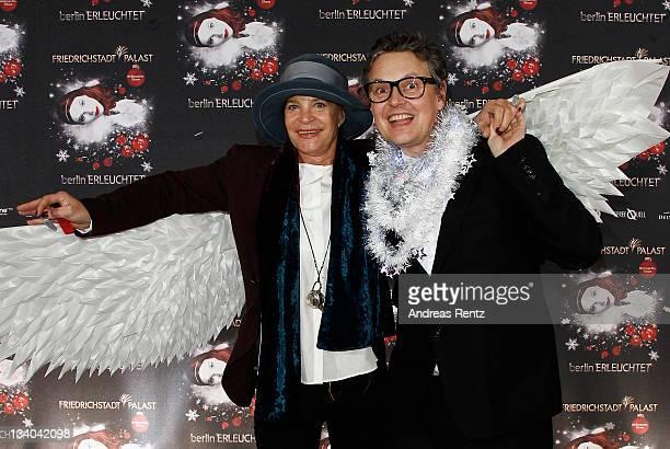 Barbara Herzsprung and Rolf Scheider attend the 'Berlin Illuminated' musical premiere at FriedrichstadtPalast on November 24 2011 in Berlin Germany