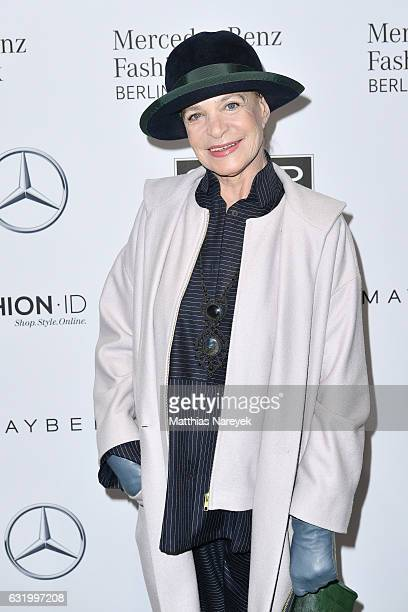 Barbara Herzsprung attends the Perret Schaad show during the MercedesBenz Fashion Week Berlin A/W 2017 at Kaufhaus Jandorf on January 18 2017 in...