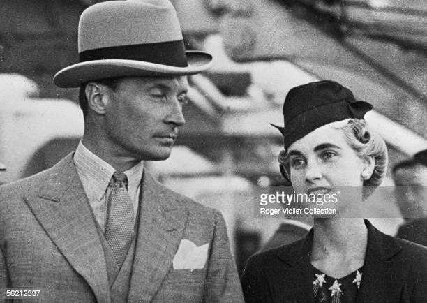 Barbara Hutton American multimillionaire and the count Von HaugwitzReventlow one of her husbands