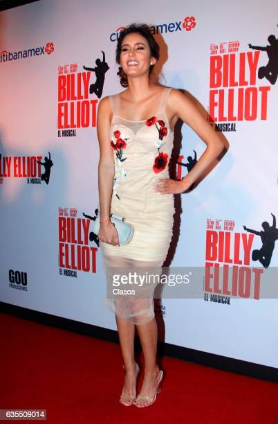 Barbara Islas poses for the camera during the opening night of Billy Elliot Music Show on February 15 2017 in Mexico City Mexico