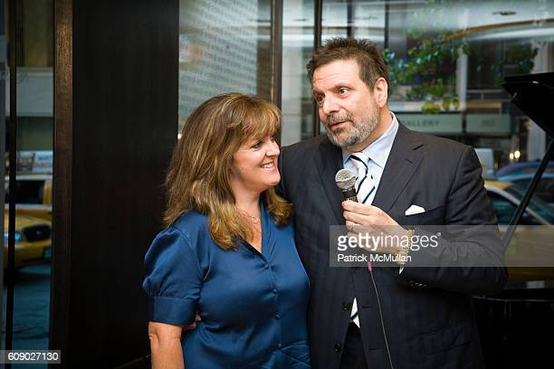 Barbara Jacobson and Jack Mastroianni attend Sony BMG Masterworks and Nespresso reception for Salvatore Licitra at Nespresso Boutique Bar on May 9...
