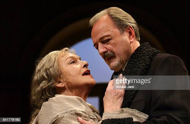 Barbara Jefford and Peter Bowles in a production of The Old Masters by Simon Gray at the Comedy Theater London