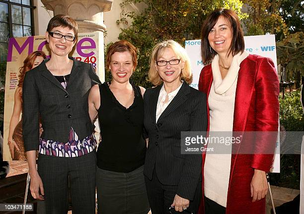 Barbara Jones deputy editor of MORE Magazine director Abigail Zealey Bess executive director of Women in Film Gayle Nachlis and president of Women in...