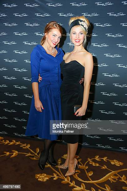 Barbara Kaudelka and Silvia Schneider attend the Thomas Sabo Brand Event at Park Hyatt on December 3 2015 in Vienna Austria