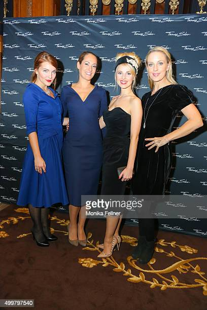 Barbara Kaudelka Bianca Schwarzjirg Silvia Schneider and Lilian Klebow attend the Thomas Sabo Brand Event at Park Hyatt on December 3 2015 in Vienna...