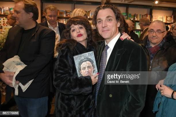 Barbara Kealy and Alexander Newley attend the launch of new book 'Unaccompanied Minor' by Alexander Newley at Daunt Books on November 29 2017 in...