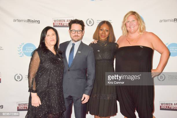 Barbara Kopple JJ Abrams Amma Asante and Bridget Everett attend the 2018 Athena Film Festival Awards Ceremony at The Diana Center At Barnard College...