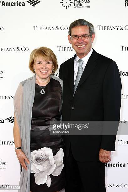 Barbara Kowalski and Michael Kowalski, Chairman and CEO, Tiffany & Co. Arrive during the Pacific Standard Time: Art in LA 1945-1980 opening event...