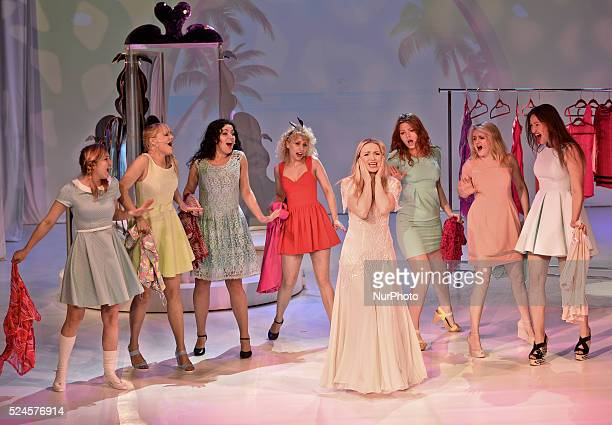 Barbara Kurdej-Szatan during the rehearsal of 'Legally Blonde' musical directed by Janusz J��zefowicz. Krakow, Theatre Variete, Poland, on May 21,...