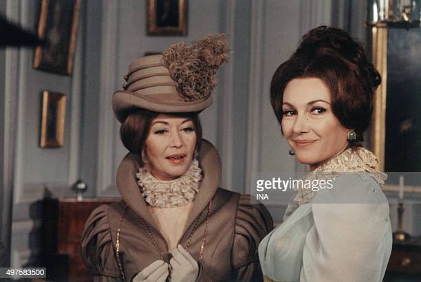 Barbara Laage and Nadine Alari in a scene of the television adaptation father Goriot realized by Guy Jorre according to the novel of Balzac