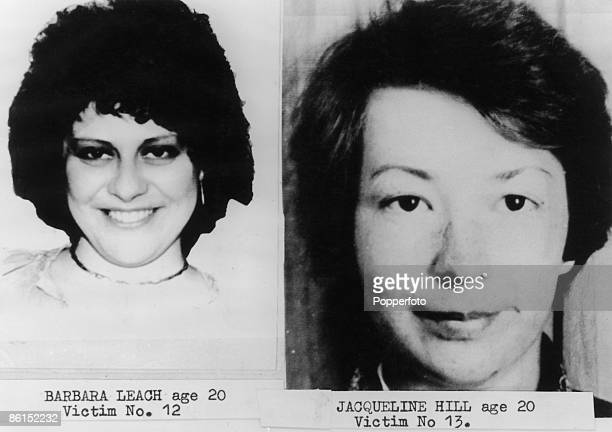 Barbara Leach and Jacqueline Hill, victims of English serial killer Peter Sutcliffe, aka The Yorkshire Ripper, circa 1980. They were both aged 20 at...