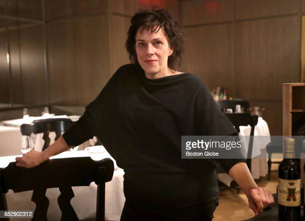 Barbara Lynch poses for a portrait in the dining room of her restaurant Menton in Boston on Nov 9 2016