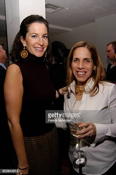 Barbara Mandel and Allison Wiener attend Whitney Biennial Artists Party at Trata Estiatoria on March 8 2008 in New York City