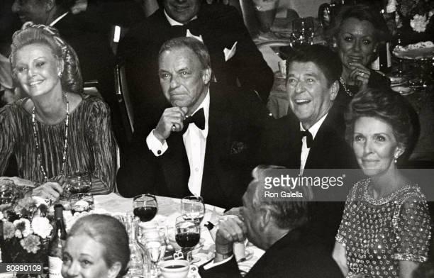 Barbara Marx, Frank Sinatra, Ronald Reagan and Nancy Reagan
