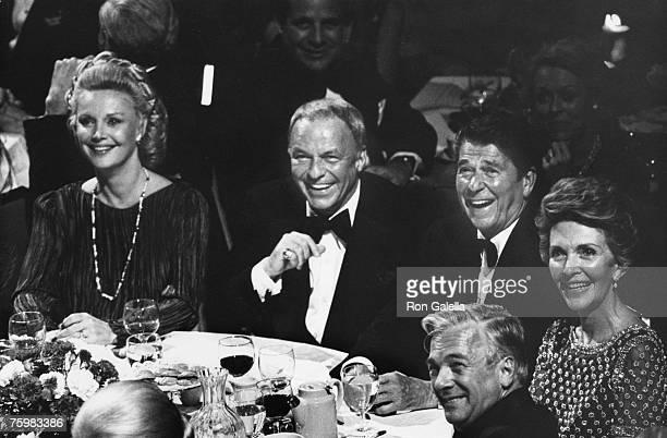 Barbara Marx, Frank Sinatra, Ronald Reagan & Nancy Reagan
