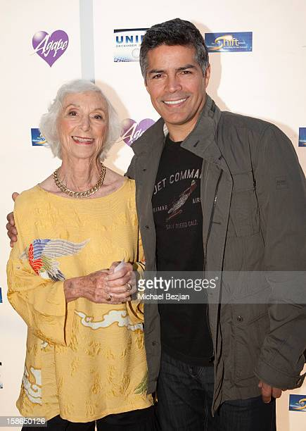 Barbara Marx Hubbard and Esai Morales attend Birth 2012 LA Gala at Agape International Spiritual Center on December 22 2012 in Los Angeles California