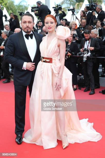 Barbara Meier and a Klemens Hallman attend the screening of 'Everybody Knows ' and the opening gala during the 71st annual Cannes Film Festival at...